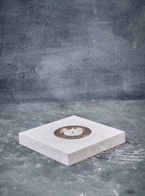 Portland Stone Candle Holders