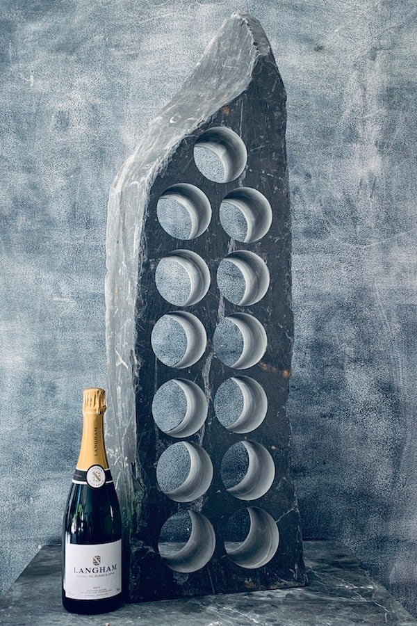13 bottle hole slate wine racks 13swr2