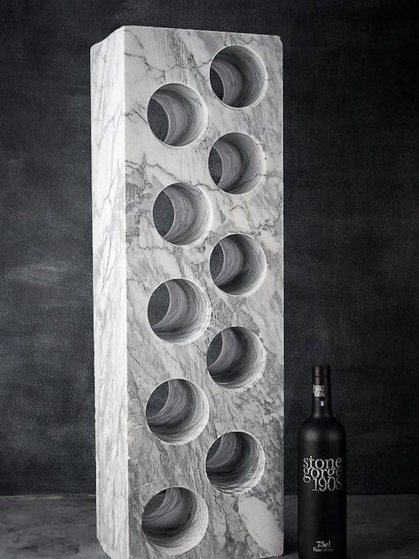 Italian Marble Gin Whiskey Wine Rack