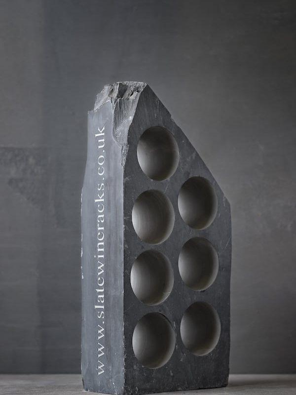 7 bottle hole slate wine racks